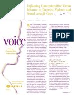 Explaining Counterintuitive Victim Behavior