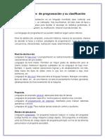1.2 Lenguaje de Pogamacion y Clasificacion