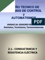 SISTEMAS DE CONTROL Y AUTOMATISMOS. UNIDAD 2A