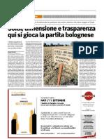 il Bologna 17-09-07 soldi dimensione e trasparenza qui si gioca la partita bolognese