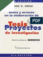 Mitos y Errores en La Elaboracion de Una Tesis. Fadi, Arias