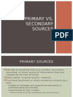Primary And Secondary Sources Primary Sources Science