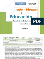 Plan 2do Grado - Bloque 1 Educación Artística.doc