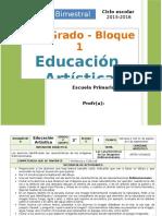 Plan 2do Grado - Bloque 1 Educación Artística.doc
