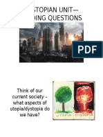 dystopian unit-guiding questions ppt