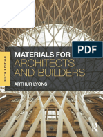 Materials for Architects and Builders, 5 Edition by Arthur Lyons