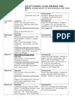 english 111- schedule