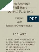 parts of a sentence part 1