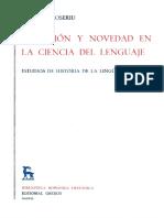 Coseriu Eugenio - Tradicion Y Novedad en La Ciencia Del Lenguaje (Gredos)