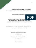 EVALUACIÓN DE CALIDAD DEL SISTEMA INTEGRADO PARA CASAS DE VALORES SICAV DE LA BOLSA DE VALORES DE QUITO UTILIZANDO LA NORMA ISO/IEC14598
