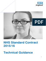 NHS Standard Contract 2015 16 Technical Guidance