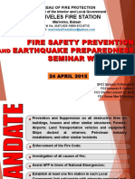 Fire Safety Prevention and Earthquake Preparedness Seminar With Drill at MARIVELES MPL HALL