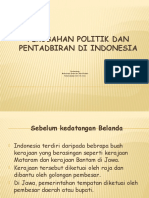 Perubahan Politik Dan Pentadbiran Di Indonesia