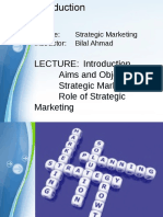 Strategic Marketing Lectures 1