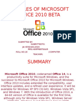 Features of Microsoft Office 2010 Beta