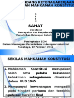 Uu Ketenagakerjaan Pasca Putusan Mk 2012 Surabaya