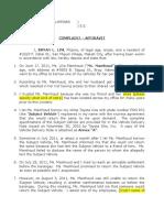 Mamhoud - Complaint Affidavit