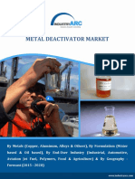 Growing industrial and manufacturing processes across the globe is driving the metal deactivators market in forecast period 2015-2020.