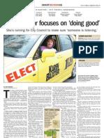 Karen Baxter, First Ward Candidate