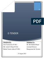 E-tender bangladesh