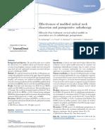 Effectiveness Neck Dissection Postoperative Radioterapy