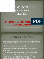 Chapter 1 - Intro to Mgt
