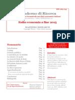 Italia Economia a Fine 2015