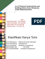 Penentuan Konduktivitas Panas Dan Porositas Dari Perhitungan