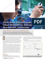 Difficulties Using Standard Chart Methods for Rating Nonmetallic Inclusions
