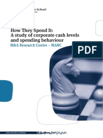 How They Spend It - A Study of Corporate Cash Holdings and Spending Behaviour