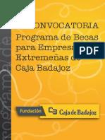 Dosier III Convocatoria Becas Caja Badajoz