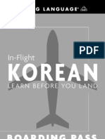 In Flight Korean