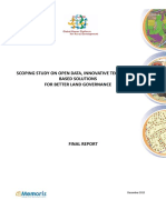 Scoping study on open data, innovative technologybased solutions for better land governance