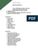Ejemplos de TeTerminologia de la saludrminologia Medica