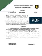 Ordin 138 din 11.11.2013 OAUP