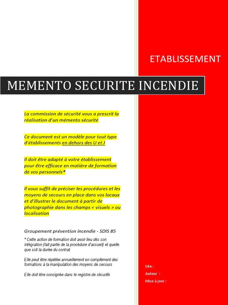 m u00e9mento securite incendie