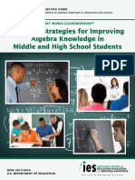 Teaching Strategies for Improving Algebra Knowledge in Middle and High School Student