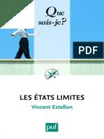 Les Etats Limites - Estellon Vincent
