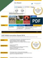 SAP HANA Innovation Award is back for a third season!