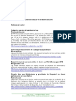 Boletín de Noticias KLR 17FEB2016