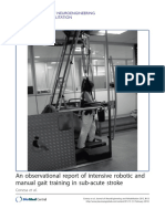 An Observational Report of Intensive Robotic and Manual Gait Training in Sub Acute Stroke