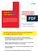 Child Sensitive Social Protection for Children Affected by HIV/AIDS in Asia-Pacific