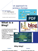 Blogging -An Alternative Approach to Teaching-learning a Foreign Language