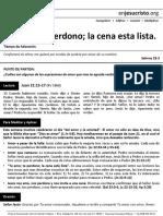 HCV - Te Amo; Te Perdono; La Cena Esta Lista - 14Feb2016