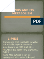 Lipids and Its Metabolism Project