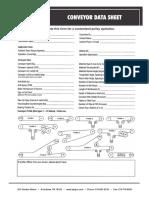 Conveyor Data Sheet