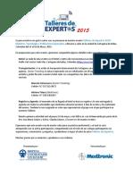 Carta Talleres de Expertos Cartagena