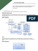 Cpu Architecture12345