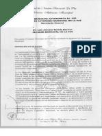 LEY MUNICIPAL AUTONÓMICA Nº025 - Ley Municipal de Participación y Control Social