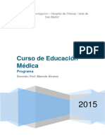 Programa - Curso de Educación Médica 2015